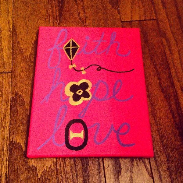 Faith, Hope, Love KAO Theta pansy and kite