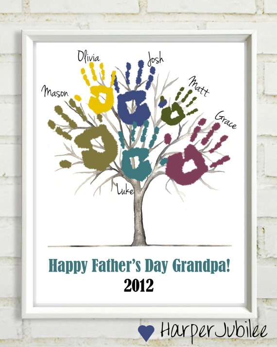 Father's Day Printable Tree Print for Handprints  by HarperJubilee, $5.00