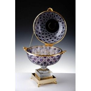 Great whisky cellar doubled purple crystal and bronze