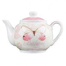 Believe, Butterfly Teapot<BR>  Butterfly Blessings