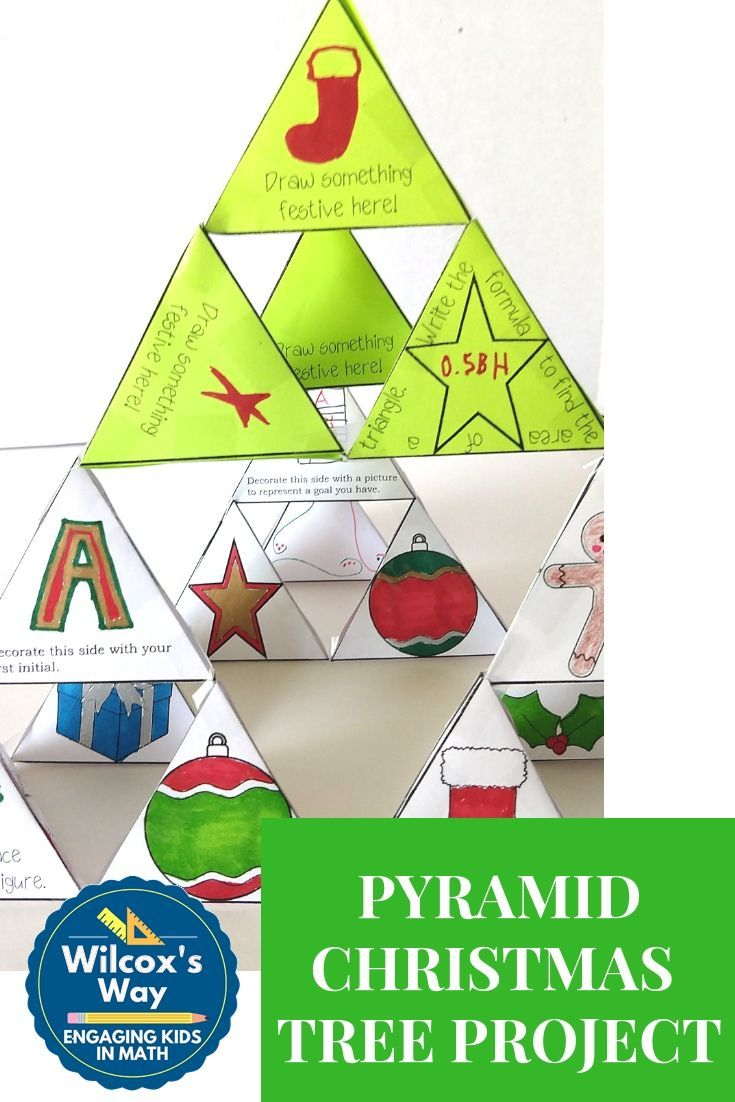 Great Christmas Tree Project For Your Middle School Math Class As Each Student Creates A Triangular Prism An Holiday Math Activities Math Projects Holiday Math [ 1102 x 735 Pixel ]