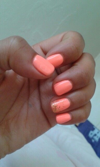 Summer Gelish nails, #shellac #cnd #glitter