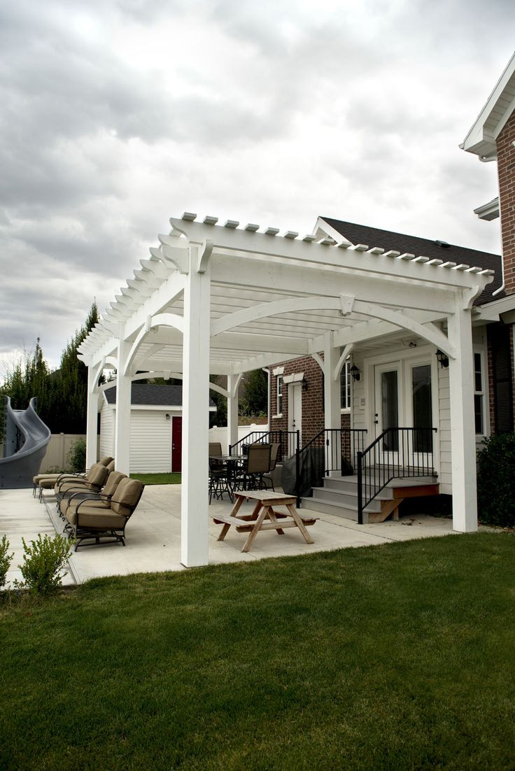 The 25 best ideas about pergola kits on pinterest for Shade arbor designs