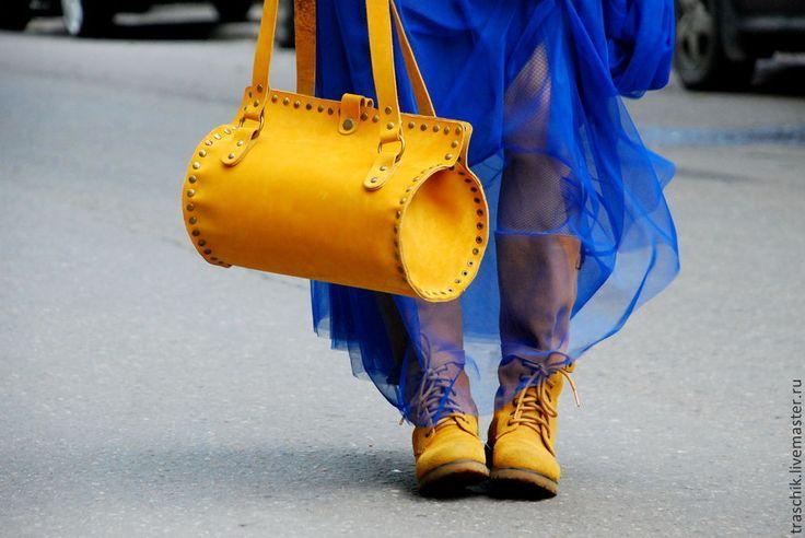 Желтая сумка - жёлтый,сумка из натуральной кожи,сумка женская,Кожаная сумка