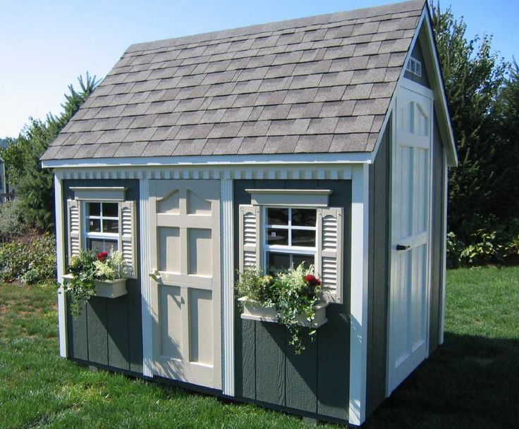 38 best garden shed images on pinterest arbors for Playhouse sheds