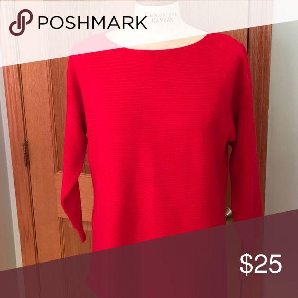 Wool blend tunic sweater Beautiful red tunic sweater. Cozy soft wool blend. J. Crew Sweaters