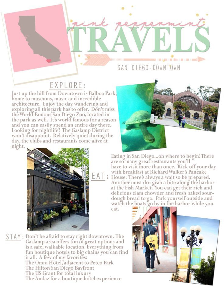 Things To Do In San Diego A Printable Travel Guide San Diego
