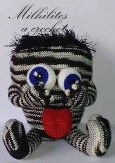 Monstruo loco matizado Amigurumi