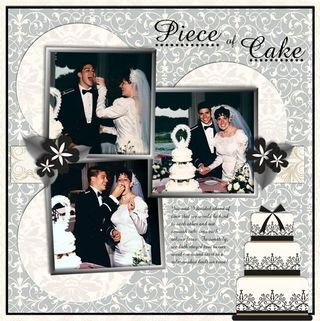 Piece of Cake Divine Wedding Day Digital #Scrapbooking Layout from Creative Memories  http://www.creativememories.com