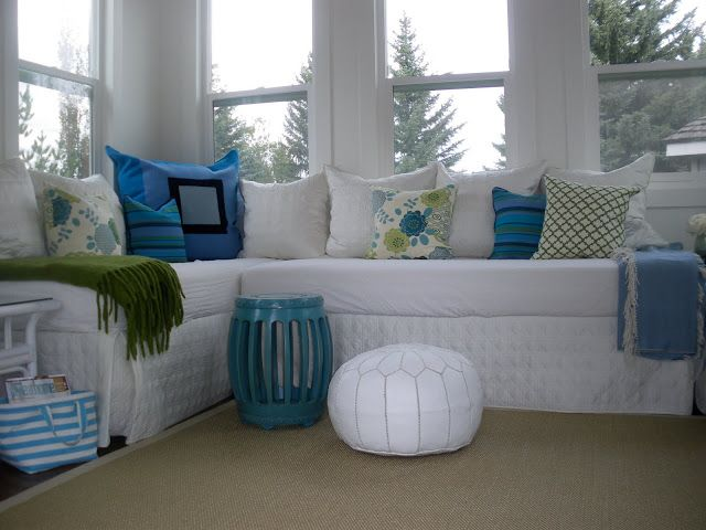 Sun Room Where She Used Two Twin Mattresses For A Day Couch