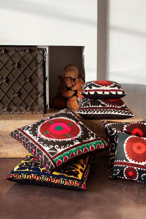 Suzani cushion and floor cushions for Oriental homewares