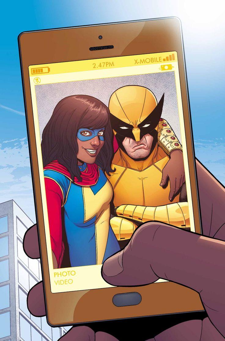 Ms Marvel & Wolverine by Jamie McKelvie.  Great comic, best book cover.