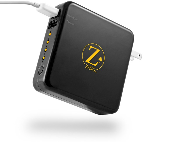 ZAGGsparq   Portable Battery Charger for iPad, iPhone, Tablet & Phone   4 Full Charges!