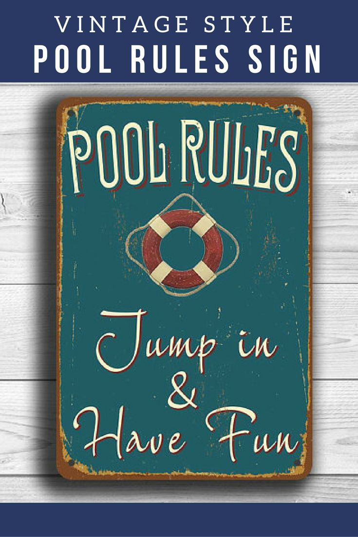 Best 25+ Pool rules ideas on Pinterest