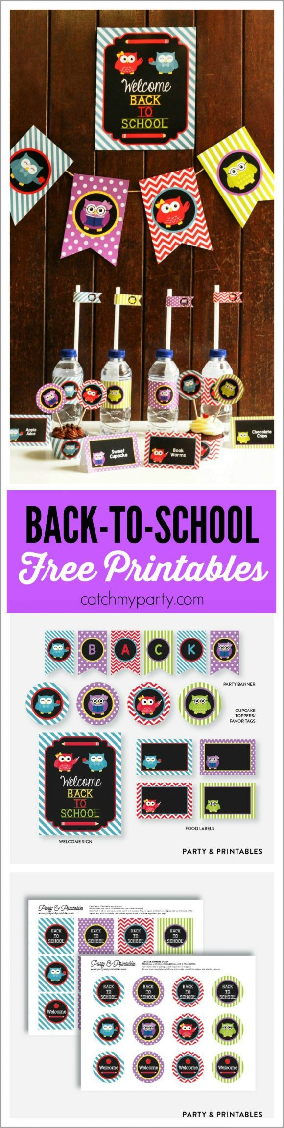 Free Back To School Owl Printables | CatchMyParty.com