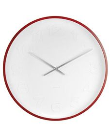 Wall Clock Mr White Numbers Wood
