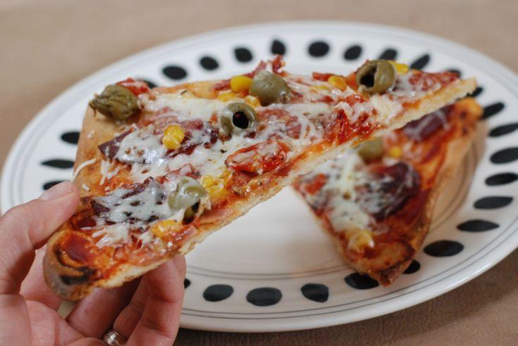 Fotorecept: Super chrumkavá špaldová pizza