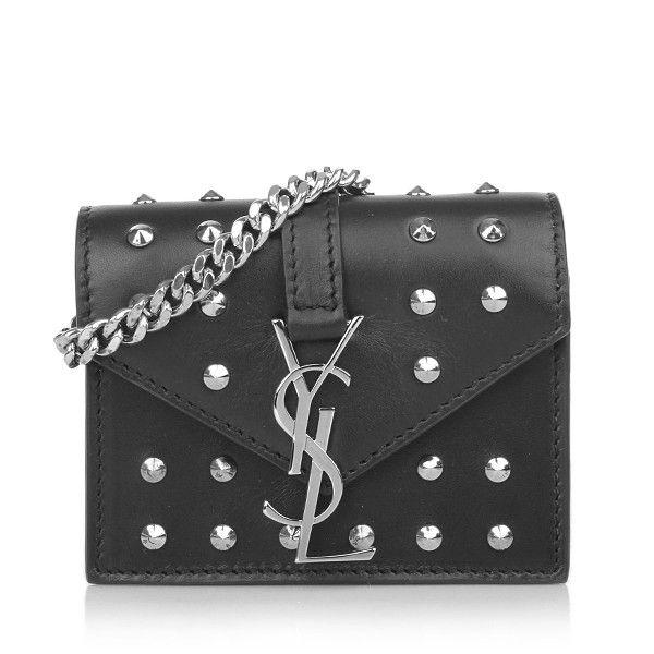 Saint Laurent \u2013 YSL Monogramme Candy Bag Black Studs - Saint ...