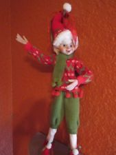 """New 19"""" Red *Green Christmas elf doll collectible quality Holiday Decor"""