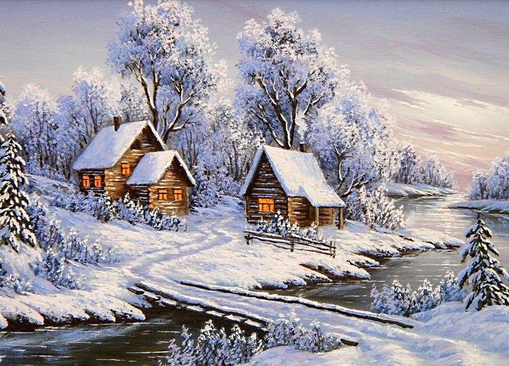 зимние пейзажи картинки декупаж удобства подъема