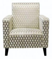 COMO Contemporary Style Armchair in Romo Ettori Odin Rice Paper Fabric
