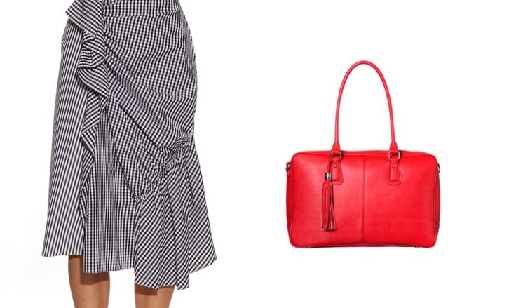 Gingham Skirt Melinda 15 Inch Laptop Bag for Women Red