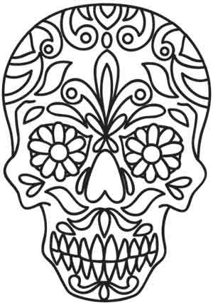 Embroidery Designs at Urban Threads - Sweet Skull Dos