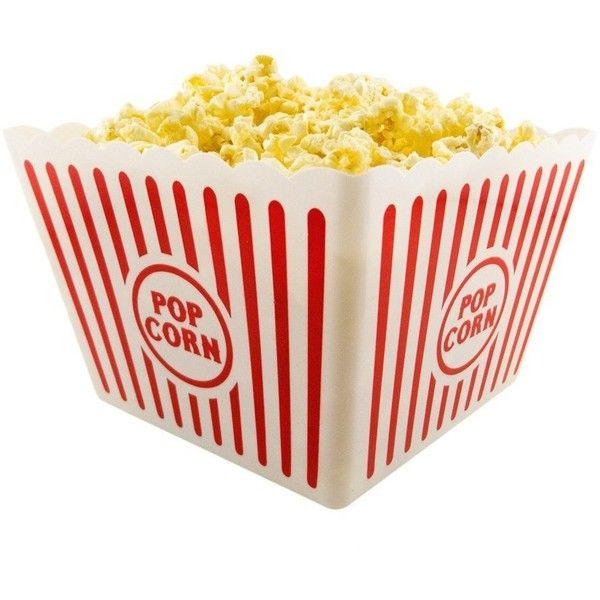 2 Jumbo Movie Night Popcorn Tubs (Plastic) ($6.46) ❤ liked on Polyvore featuring home and kitchen & dining