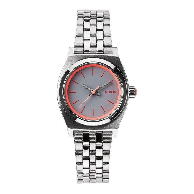 Reloj Nixon Small Time Teller Silver/ Neon Pink