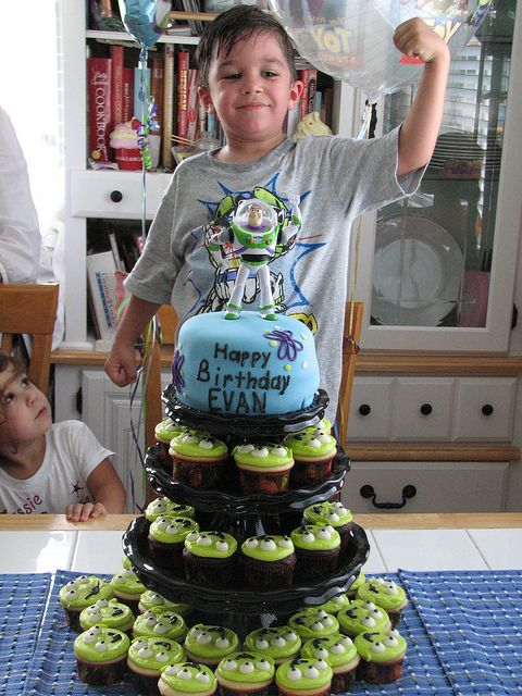 Toy Story Cake and Cupcakes by sugarcrushmiami, via Flickr