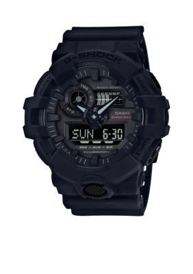 G-Shock Men's Men's Black 35Th Anniversary Ana-Digi With Black Front Light Button Watch - Black - One Size
