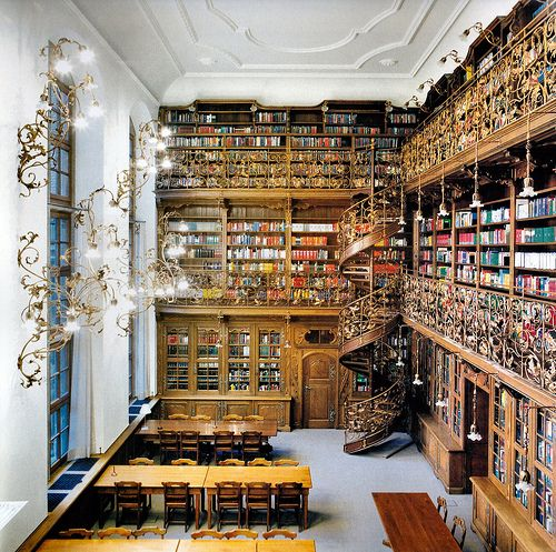 A Very Fairytale Library.  Light Fittings and Spiral Stair Case