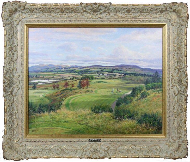 Donald Shearer The 8th PGA Centenary, Gleneagles Oils 24x30 | Scottish Contemporary Art
