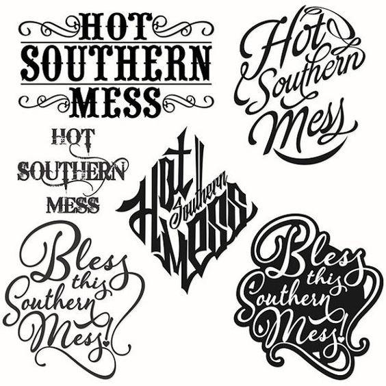 Hot Southern Mess Cuttable Svg Designs por CuttableSVG en Etsy: