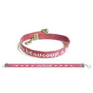 bracelet rose personnalisé à broder au point de croix - lilipoints
