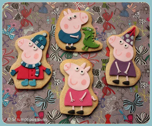 Peppa & George Pig--I could see these made with crackers and cheese
