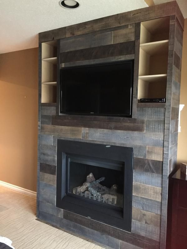 Review Photo 3 Fireplace Tv Wall Wood Fireplace Surrounds