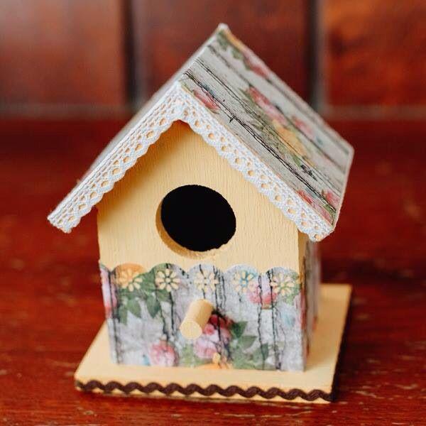 Decorated bird house