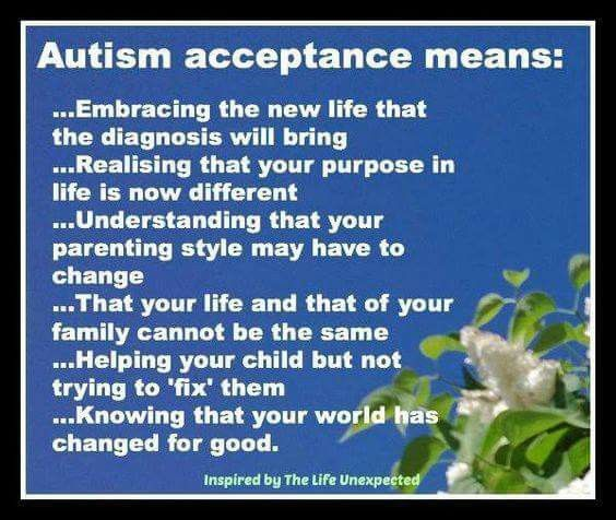 The meaning autism acceptance