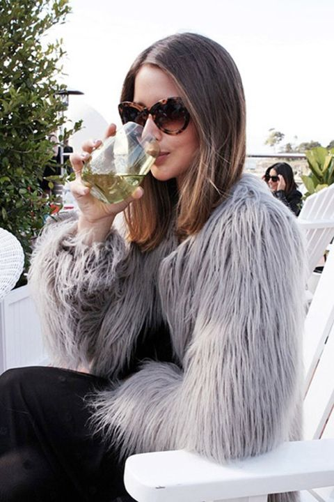 faux fur vest & cat eye sunglasses (and Olivia Palermo)
