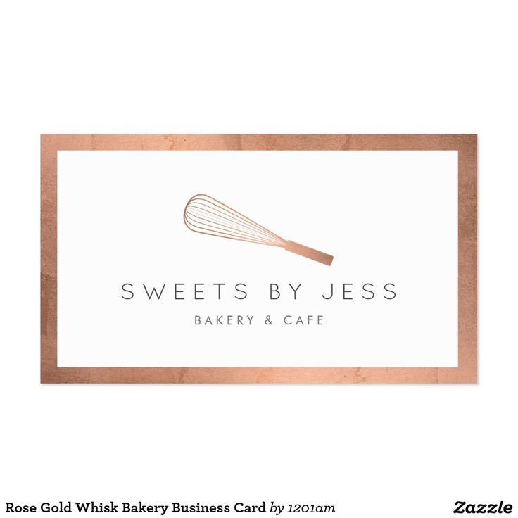 8 best business cards for cake decorating and bakery images on rose gold whisk bakery business card reheart Gallery