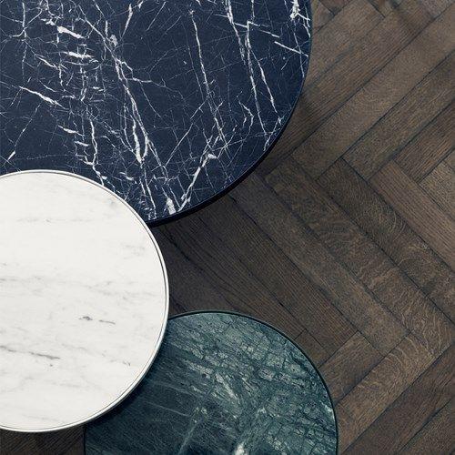 Marble bord - marmor svart, large, svart stativ