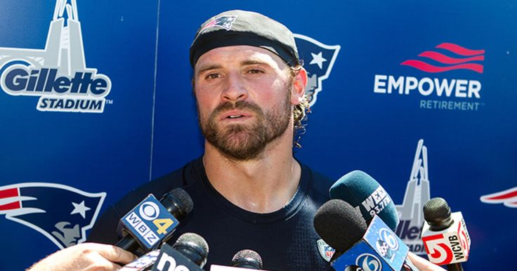 New England Patriots Defensive End, Chris Long, addresses the media following Training Camp practice at Gillette Stadium on Thursday, August 4th 2016.