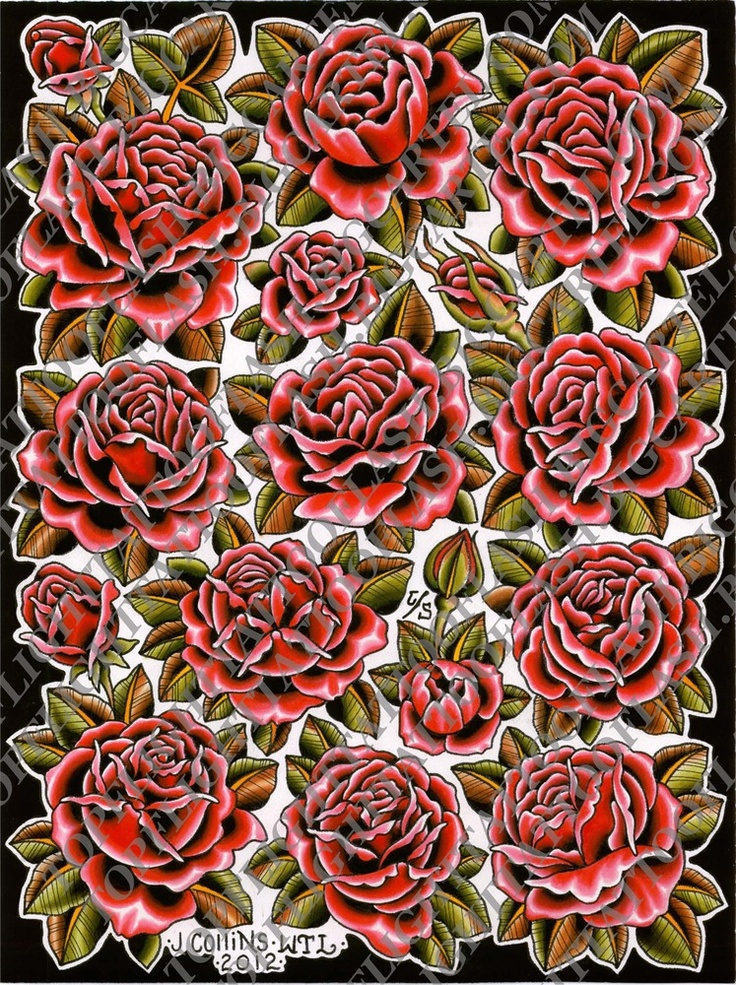 """Rose flash page 18"""" x 24"""" by John Collins"""