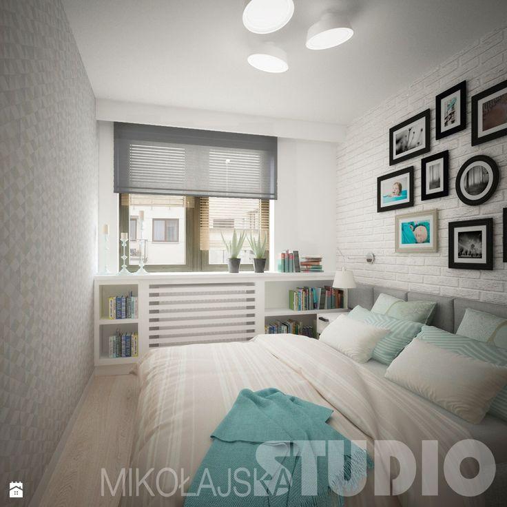 Współczesna sypialnia - zdjęcie od MIKOŁAJSKAstudio - Sypialnia - Styl Skandynawski - MIKOŁAJSKAstudio