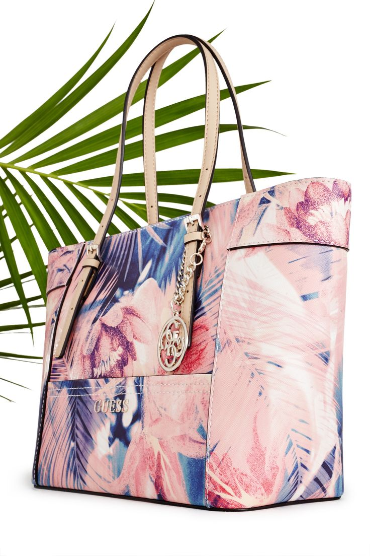 Delaney Floral-Print Small Classic Tote | GUESS.com