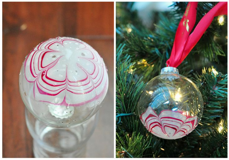 Candy Cane Marbled Monogram Ornaments for Christmas! ★ How-To