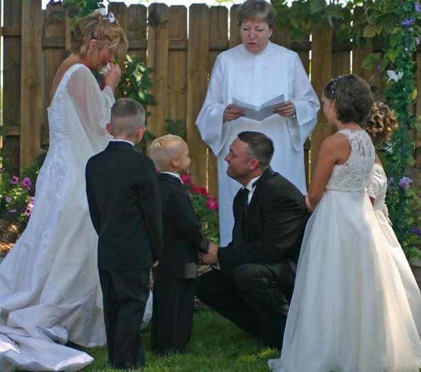 Second wedding ceremony ideas Family Medallion for Second