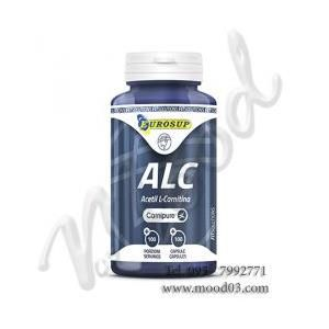 EUROSUP ALC Acetil L-Carnitina Qualità CARNIPURE, Barattolo da 100 cps – 200 mg di Acetil-L-Carnitina per capsula a soli 14,70€