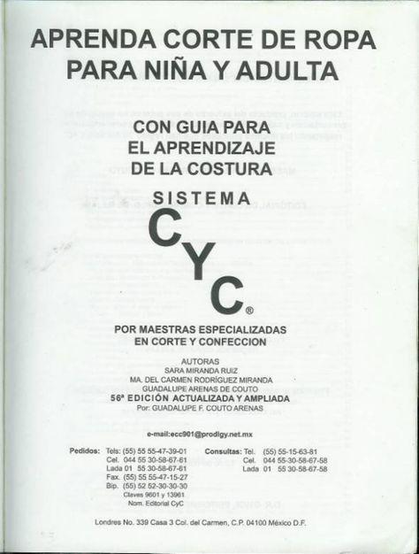Cyc - Aprenda Corte De Ropa Para Niña Y Adulta 1 - Documents